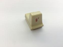Hammond Drawbar Button weiss 8'*
