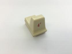 Hammond Drawbar Button weiss 4'*