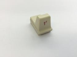 Hammond Drawbar Button weiss 1'*
