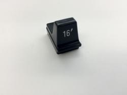 Hammond Drawbar Button schwarz 16'*