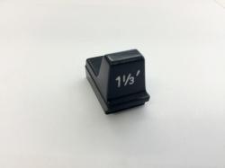 Hammond Drawbar Button schwarz 1 1/3'*
