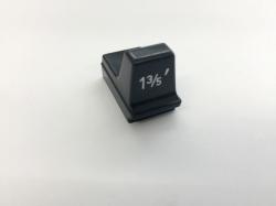Hammond Drawbar Button schwarz 1 3/5'*