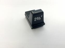 Hammond Drawbar Button schwarz 2 2/3'*