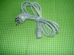 Geräte-Netzkabel mit deutschem Stecker gewinkelt, 10er Set